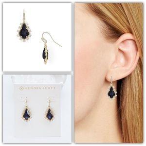 Kendra Scott Juniper Drop Earrings Gold/Blue